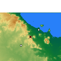 Nearby Forecast Locations - Woolshed - Χάρτης