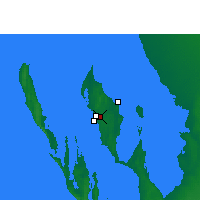 Nearby Forecast Locations - Shark Bay Airport - Χάρτης