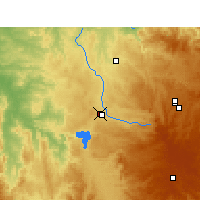 Nearby Forecast Locations - Inverell - Χάρτης