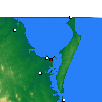 Nearby Forecast Locations - Hervey Bay Airport - Χάρτης