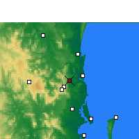 Nearby Forecast Locations - Nambour - Χάρτης
