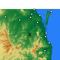 Nearby Forecast Locations - Beaudesert - Χάρτης