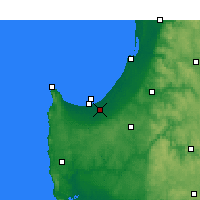 Nearby Forecast Locations - Busselton - Χάρτης