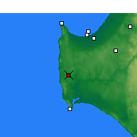 Nearby Forecast Locations - Witchcliffe - Χάρτης