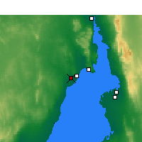 Nearby Forecast Locations - Γουαϊάλλα Αεροδρόμιο - Χάρτης
