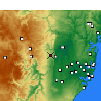 Nearby Forecast Locations - Springwood - Χάρτης