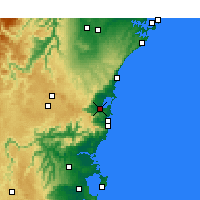 Nearby Forecast Locations - Wollongong - Χάρτης