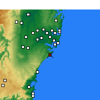 Nearby Forecast Locations - Wattamolla Aws - Χάρτης