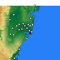 Nearby Forecast Locations - Kurnell - Χάρτης