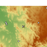 Nearby Forecast Locations - Tamworth - Χάρτης