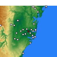 Nearby Forecast Locations - Homebush - Χάρτης