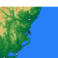 Nearby Forecast Locations - Forster - Χάρτης