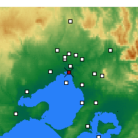 Nearby Forecast Locations - St Kilda (Melbourne) - Χάρτης