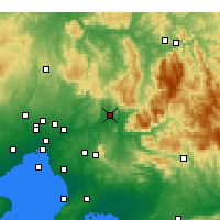 Nearby Forecast Locations - Tarrawarra - Χάρτης