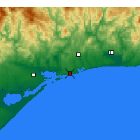 Nearby Forecast Locations - Lakes Entrance - Χάρτης