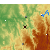 Nearby Forecast Locations - Adelong - Χάρτης