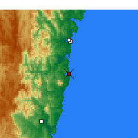 Nearby Forecast Locations - Narooma - Χάρτης