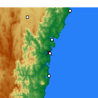 Nearby Forecast Locations - Moruya Airport - Χάρτης