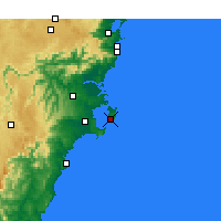 Nearby Forecast Locations - Jervis Bay - Χάρτης