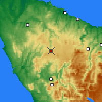 Nearby Forecast Locations - Waratah - Χάρτης