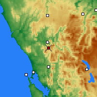Nearby Forecast Locations - Mount Read - Χάρτης