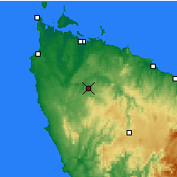 Nearby Forecast Locations - Luncheon Hill - Χάρτης