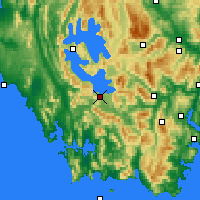 Nearby Forecast Locations - Scotts Peak - Χάρτης