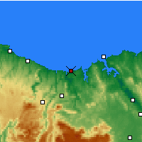 Nearby Forecast Locations - Devonport Airport - Χάρτης