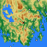 Nearby Forecast Locations - Warra - Χάρτης