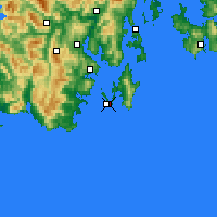 Nearby Forecast Locations - Cape Bruny - Χάρτης