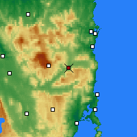 Nearby Forecast Locations - Fingal - Χάρτης
