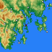 Nearby Forecast Locations - Bull Bay - Χάρτης