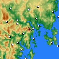 Nearby Forecast Locations - Mt Wellington - Χάρτης
