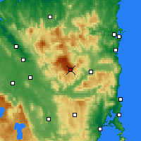 Nearby Forecast Locations - Storys Creek - Χάρτης