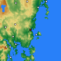 Nearby Forecast Locations - Orford - Χάρτης