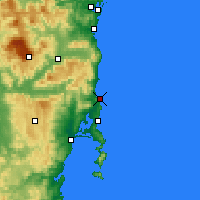 Nearby Forecast Locations - Bicheno - Χάρτης