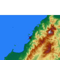 Nearby Forecast Locations - Kota Kinabalu - Χάρτης
