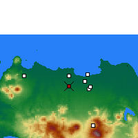 Nearby Forecast Locations - Curug - Χάρτης