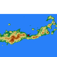 Nearby Forecast Locations - Maumere - Χάρτης