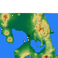 Nearby Forecast Locations - Manila Sc. - Χάρτης