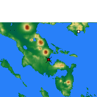 Nearby Forecast Locations - Legazpi - Χάρτης