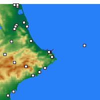Nearby Forecast Locations - Dénia - Χάρτης