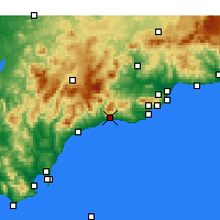 Nearby Forecast Locations - Μαρμπέγια - Χάρτης