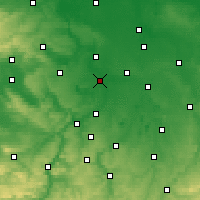 Nearby Forecast Locations - Merseburg - Χάρτης