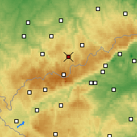 Nearby Forecast Locations - Annaberg-Buchholz - Χάρτης