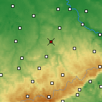 Nearby Forecast Locations - Mittweida - Χάρτης