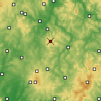 Nearby Forecast Locations - Schwarzenborn - Χάρτης