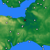 Nearby Forecast Locations - Bridgwater - Χάρτης