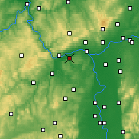 Nearby Forecast Locations - Ingelheim - Χάρτης