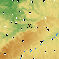 Nearby Forecast Locations - Göppingen - Χάρτης